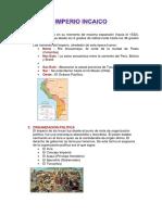 Imperio Incaico Informe