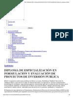 Diploma de Especialización en Formulación y Evaluación de Proyectos de Inversión Publica _ Institutos _ Esan