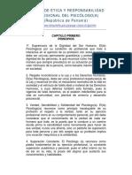 Código de Ética y Responsabilidad PANAMÁ