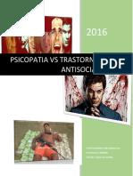 Psicopatia y Trastorno Disocial