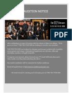 2017 Audition Brief
