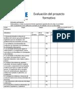 Evaluacion proyecto formativo