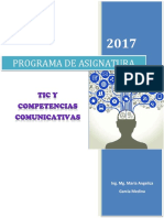 PROGRAMA de ASIGNATURA TIC Competencias Comunicativas