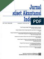 1. Jurnal Riset Akuntansi Indonesia Vol 5 No 2 Mei 2002