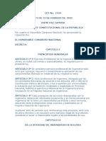 Ley 1449 Ejercicio Profesional