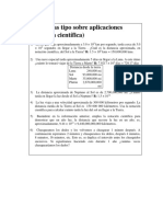 Problemas Tipo Sobre Aplicaciones (Notación Científica)