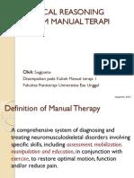 1. Introduksi Manual Terapi 1, 3 Pertemuan