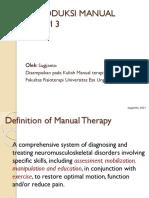 1. Introduksi Manual Terapi 3, (3 Kali Pertemuan)