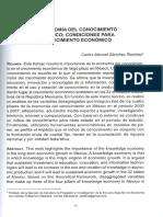 La Economía del Conocimiento en México Condiciones para el Crecimiento Económico.