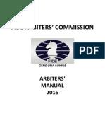 Arbiters' Manual 2016