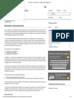 Domestic Sub-contractor - Designing Buildings Wiki