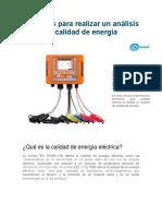 5 Razones Para Realizar Un Análisis de Calidad de Energía