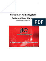 Network IP Audio System Software
