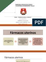 Farmacologia Uterina COMPLETO