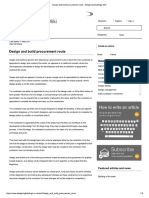 Design and Build Procurement Route - Designing Buildings Wiki