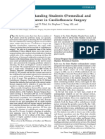 Attracting Outstanding Students (Premedical and Medical) to a Career in Cardiothoracic Surgery