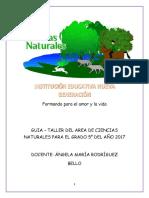 CARTILLA DE CIENCIAS 5°