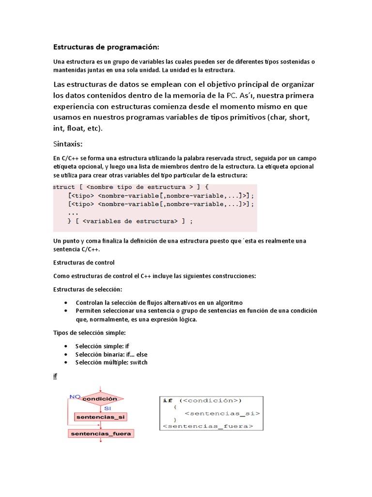 Estructuras De Programación C Flujo De Control