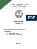 Electrónica II TransmisorFM