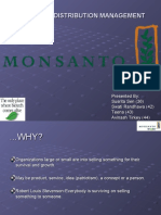 Sales and Distribution-MONSANTO