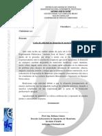 Carta de Solicitud de Mecanizado