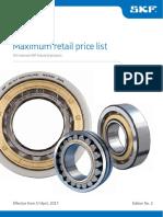 SKF Industrial PricelistApril2017 Edition2