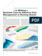Challenges in Making a Business Case for Effective Pain Management in Nursing Homes