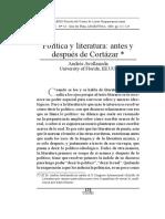 Politica y Literatura Despues de Cortazar-Avellaneda