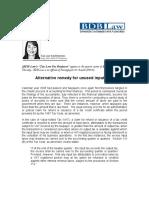 72.BM.alternative Remedy for Unused Input VAT.mvf.01.01.09
