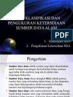 Kuliah 2-3 Klasifikasi Jenis SDA