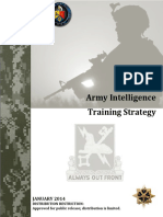 Army Intelligence Training Strategy 2014