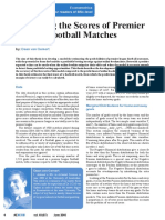 Modelling the Score of Premier League Football Matches