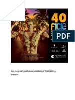 40th Elche International Independent Film Festival. Awards