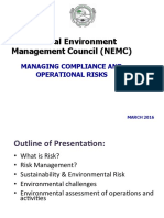 Managing Compliance and Operational Risks