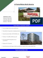 Digital Innovation at Toyota Motors North America