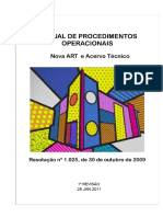 Manual de Procedimentos Operacionais - ART e CAT CONFEA