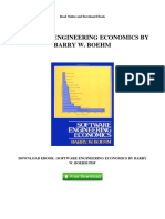 Software Engineering Economics by Barry w Boehm