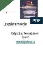 Laserske tehnologije  1