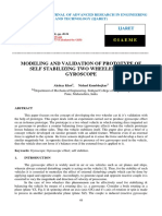 Modeling and Validation of Prototype of Self Stabilizing Two Wheeler Using Gyroscope