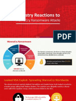 Industry Reactions to WannaCry Ransomware Attacks