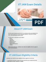 IIT JAM Exam Details