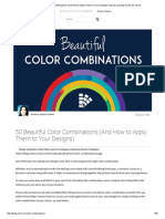 50 Beautiful Color Combinations