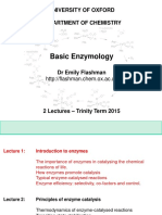 Flashman Enzymology Lectures Year 1