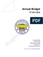 2017-18 Proposed City Budget