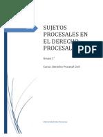 Monografias Sobre Los Sujetos Procesales en El Proceso Civil
