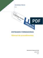 Manual de Procedimentos (Entidades Formadoras) v2