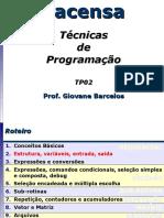 Estrutura do Programa em C - Variáveis de Entrada e Saída