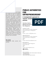 Vecchi v. Brusoni M. Borgonovi E. (2014) Public Authorities for Entrepreneurship- A Management Approach to Execute Competitiveness Policies. Public Management Review 16(2)- 256-273.