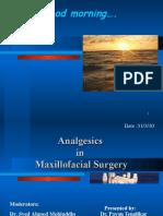 Analgesics in Oral and Maxillofacial Surgery