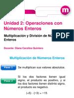 Multiplicacion de Numeros Enteros